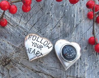 Follow Your Heart Pocket Compass