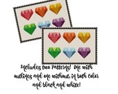 Rainbow Diamond Cross Stitch Pattern - Princess Cross Stitch Pattern - Modern Cross Stitch Design