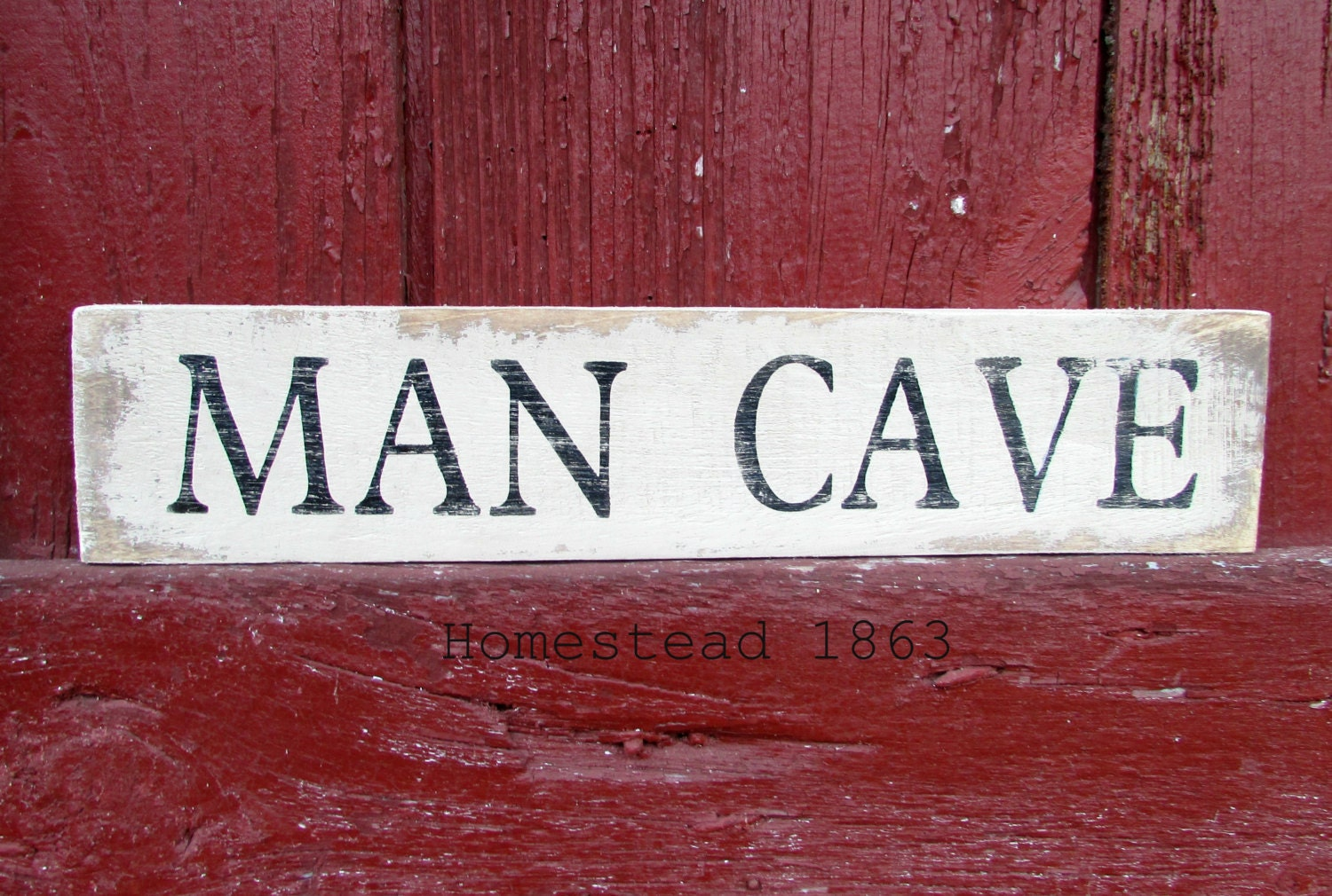 Man Cave Signs Wooden : Man cave wood sign reclaimed rustic