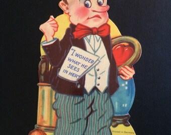 Antique German Stand Up Valentine, Wicked Humor