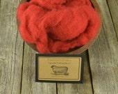 Needle Felting Wool - Hollyberry -Wet Felting Wool