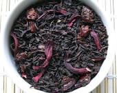 Black Cherry Tea / Organic Loose Leaf Tea / Black Tea / Hand Blended /Organic Flavor / Caffeinated