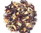 Herbal Tea, Lavender Lemonade, BLISSFUL BLEND, Organic Herbal Citrus Punch, Iced Tea , Hibiscus Tea, Caffeine Free, 2oz Eco Package