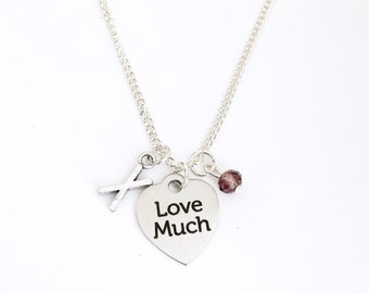 Personalized Love Much Necklace