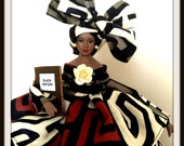 Black Art Doll Black History Month Celebration Doll OOAK Porcelain Doll
