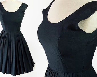 50s 60s Dress, Marcy Lee, Mad Men, Navy, Circle Skirt, Rockabilly