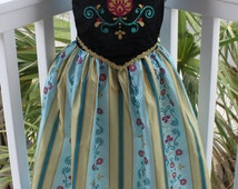 Anna princess costume disney halloween dress scottish boutique photo shoot pretend glitter birthday toddler dress girl girls Frozen Elsa