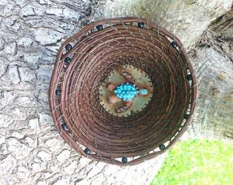Sea Turtle Pine Needle Basket