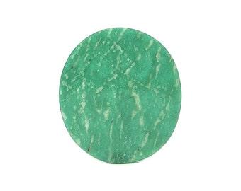 Blue Green Amazonite Semiprecious gemstone Cabochon Semi Precious Geo Gem Feldspar, jewel mined and handcrafted in Russia, DIY Jewelry Stone