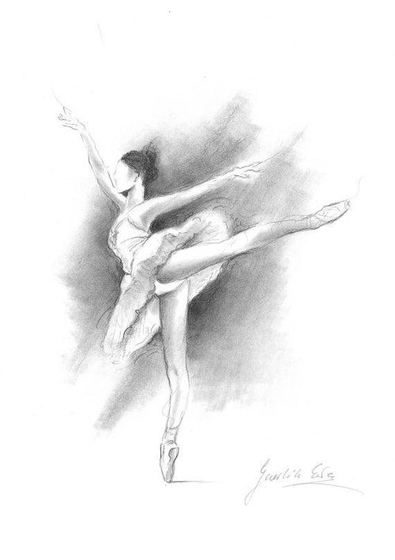 della ballerina, Ballerina schizzo, stampa di disegno, foto Ballerina ...