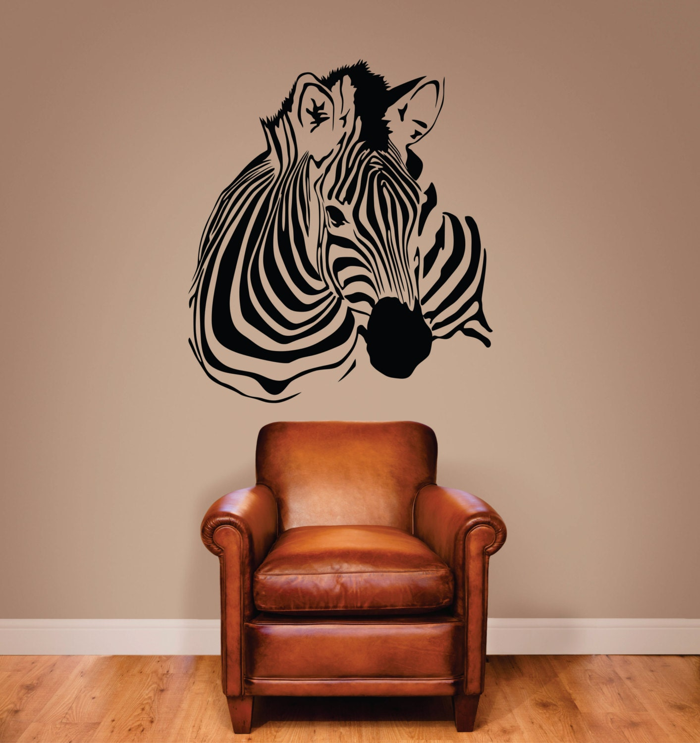 Zebra Wall Decal Zebra Stripe Decal Zebra Decor Zebra Art