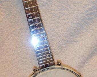Werco Blue Sparkle Banjo Ukulele
