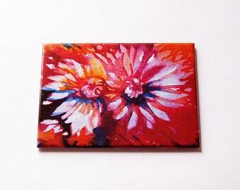 Red Flower Purse mirror, Red mirror, glass mirror, Large Pocket mirror, mirror, rectangle mirror, Mothers Day, red flower mirror (5706)