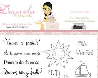 Ola Verao (kit de carimbos)