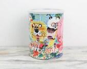 Vintage Folgers Jungle Theme Coffee Tin