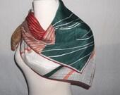 Vintage FISBA STOFFELS Silk Scarf, Swiss, Switzerland