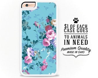Floral iPhone Case / Floral iPhone 6 Case Floral iPhone 6S Case iPhone 4 Case 4S 5S Pastel iPhone 5 Case iPhone 5C Case 6 Plus Pastel Floral