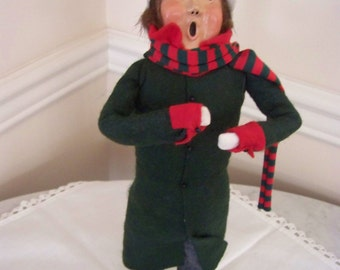 Reduced!Byers Choice caroler #8Byers Choice