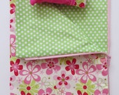 American Girl Doll Clothes, Zippered Sleeping Bag, Doll Sleeping Bag with Pillow, Flowered Sleeping Bag
