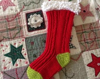 Crochet Christmas Stocking, Crochet Stocking, Christmas Decoration, Holiday Stocking, X-Mas stocking