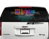 COLOR eBoutique LuLaRoe Rear Window Car Decal, LuLaRoe Personalized eBoutique Window Decal, LuLaRoe eBoutique Car Window Sticker