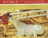 Vintage Arabian Horse World Magazine, Back Issue October 1973