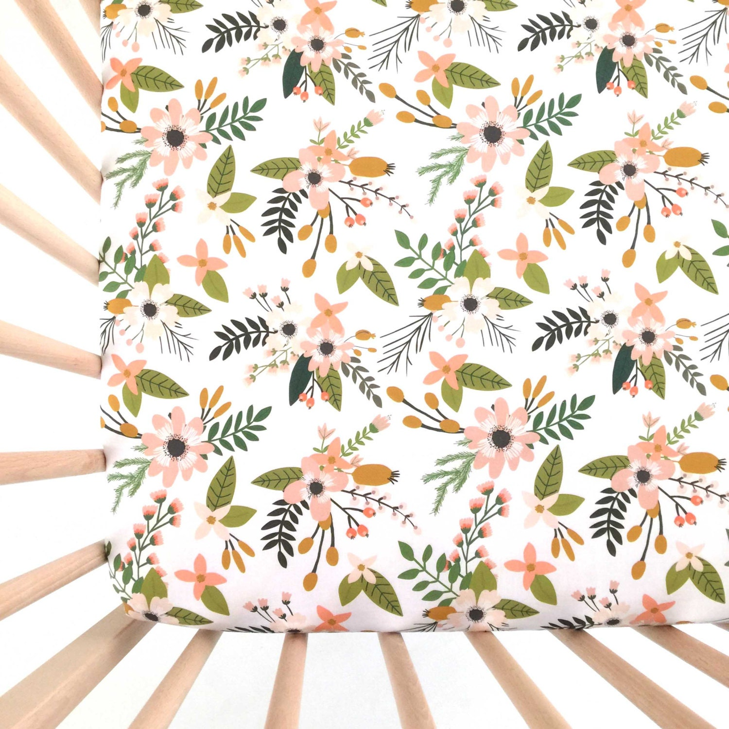 Crib bumper for sale philippines - Crib Sheet Blush Sprigs And Blooms Fitted Crib Sheet Baby Bedding Crib Bedding Minky Crib Sheet Crib Sheets Floral Crib Sheet