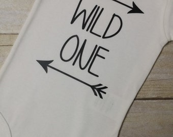 Wild One Shirt, Bodysuit, Bib or Burp Cloth - First Birthday Shirt - Wild One Birthday