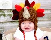Gobble Gobble Turkey Hat - Adorable Shower Gift, Photo Prop