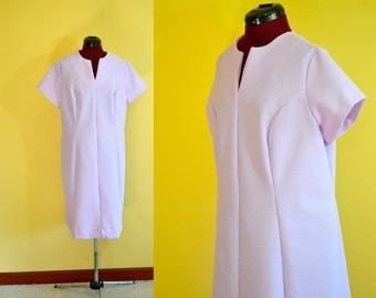 1970s Vintage Plus Size Sears Fashions Pale Purple Day Dress size 22.5 (XXL) bust 46