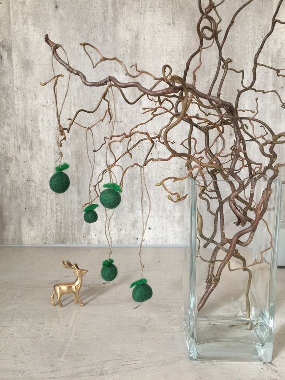 Hanging decoration felt decor green apples home by for Apple home decoration