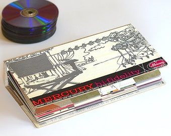 52 CD/ DVD Holder Art Book, DVD Wallet Handmade from Upcycled Album Cover, Cd Case, Cd Album, Dvd Storage- Movie Edition