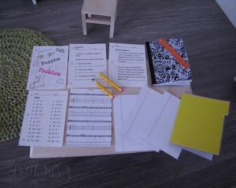 Back to school pack ( for MSD & yosd - 40/45cm   20/30cm)  BJD/ MH/ Pullip