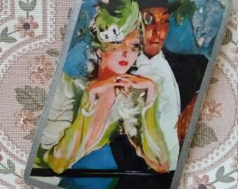 Stunning Vintage Elegant Lady and Gentleman Playing Cards