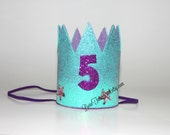 Mermaid 5th Birthday Crown // READY TO SHIP // by Born TuTu Rock