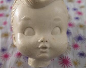Edward Mobley, Little Boy, Dandy, head only, original sculpture, wax mold, one of a kind