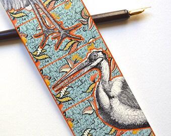 Bookmark - Pop Art Bird - Handmade