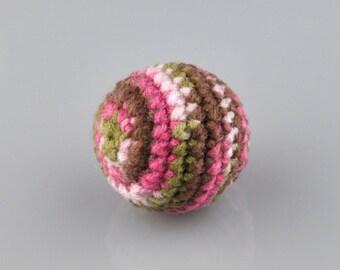 Organic Catnip Toy, Catnip Toy, Kitty Jingle Ball, Pink Kitty Camo
