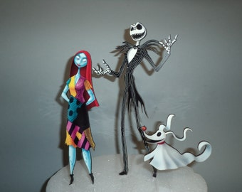 Nightmare Before Christmas Cake / Floral topper set