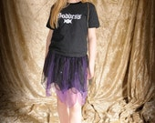 Child's black & purple tutu skirt; gothic clothing; halloween witch costume; fairy costume