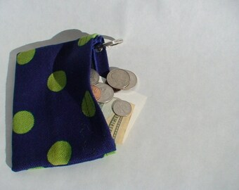 Polka Dot Coin Purse I.D – Cash – Card Holder with Accessory