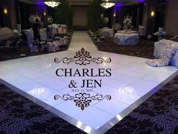 Elegant huge damask theme dance floor decal wedding day for 13th floor elegant themes