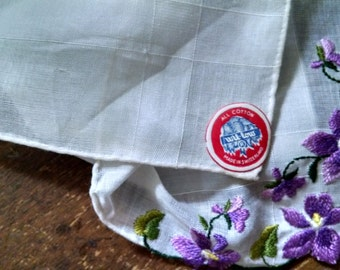 Vintage Willow Sheer Cotton Handkerchief