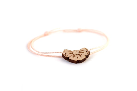 Bowtie bracelet - 25 colors - cute bow tie bangle - adjustable bracelet - lasercut maple wood - graphic kawaii jewelry -  customizable