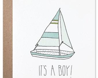 Sailboat It's a Boy Card