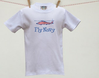 Navy MH-60R Seahawk Helicopter Custom Appliqué Toddler Tee