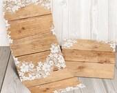 Rustic seal and send wedding invitation card - Affordable Cheap wedding invitation solution {Washington design}