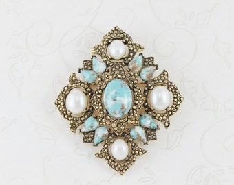 SALE, Sarah Coventry - Sarah Coventry Pin - Vintage Jewelry - Vintage Brooch - Sarah Cov  Brooch - Vintage Brooch - Boho Chic - Summer Sale