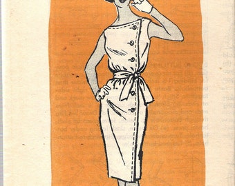 "Vintage 1960's Mail Order 4776 Side Closing Sleeveless Dress Sewing Pattern Size 16 Bust 36"" UNCUT"