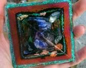 Teal and Pink Orgonite Pyramid // Powerful Crystal Healing Kyanite Copper